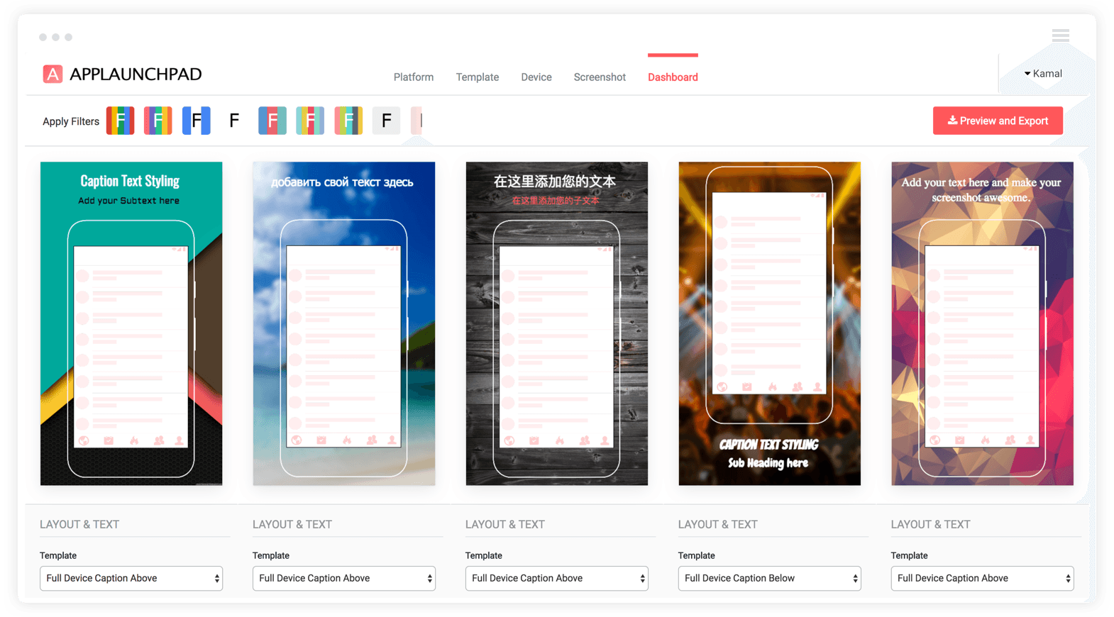 Design Google Play and App Store image using background & font styles for App Store & Google Play Pages | Launchkit alternative